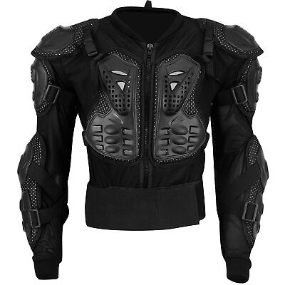 Motocross Motorbike Body Armour Motorcycle Protection Guard Jacket Black