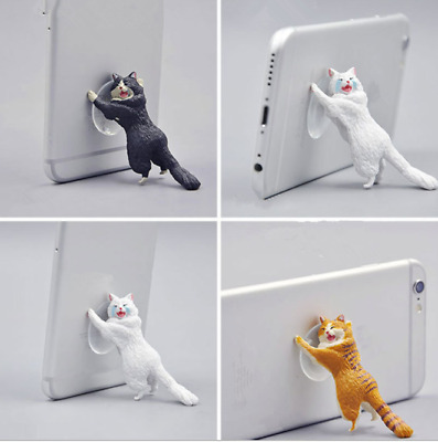 Creative Simulation Cat Animal Mobile Phone Holder Support Mounts Stander Gift