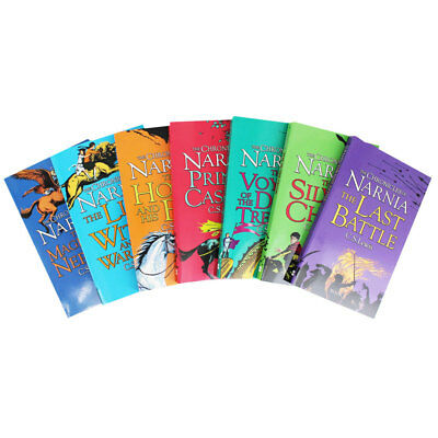 New The Chronicles of Narnia Box Set 7 Book Collection Free Express Shipping!