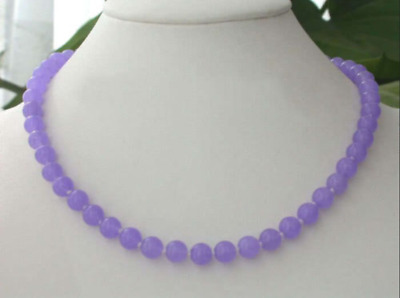 Handmade 8MM Natural Alexandrite Gemstones Round Loose Beads necklace 18""