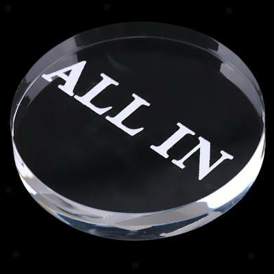 Transparent Acrylic ALL IN Button Dealer Button for Tournaments Blackjack