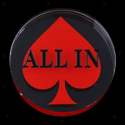 Clear Acrylic All In Button Poker Game Dealer Puck Button 2.83 x 0.78inch