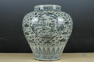 A Fine Beautiful Chinese Blue and white porcelain character Pot