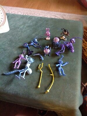 Disneys A Bug's Life Toy Lot of 9 Figurines