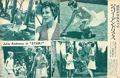 JULIE ANDREWS Star! 1967 Vintage Japan Picture Clippings 2-Pages #FH/R