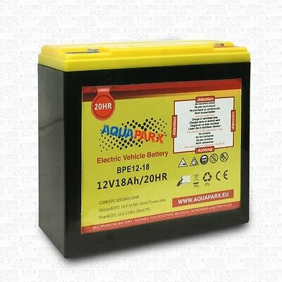 A0201 Aquaparx Battery 12V 18Ah For Engines Electric Outboard Carp Fishing