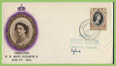 Swaziland 1953 QEII Coronation Issue on BPA First Day Cover