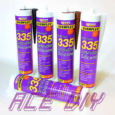 Everbuild Premium 335 Construction Silicone C3 295 ml Flexible Curing Sealant