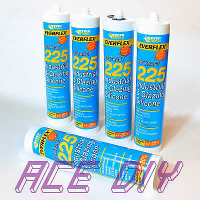 Industrial Glazing Silicone C3 | Everbuild 225 Flexible Quick Drying Sealant