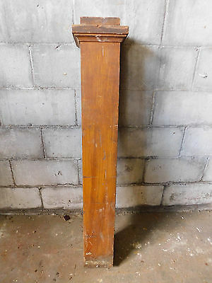 Antique Craftsman Style Square Newel Post - C. 1905 Fir Architectural Salvage