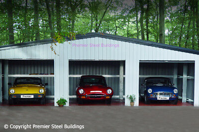 Premier Steel Buildings- Triple Classic Car Garage. Garage building, Prefab kit