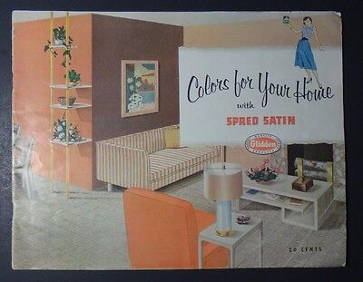 Vintage 1952 Glidden Paint Colors for Your Home with Spred Satin Catalog