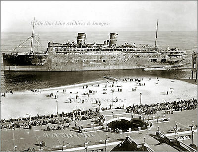 Photo: The Luxury Super Liner SS Morro Castle Shipwrecked At Asbury Park NJ 1934