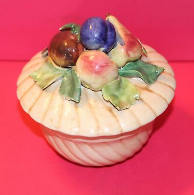 Collection of Fruit - Cookie / Candy jar - Two Pieces (Lid and Base) ITALY 3467