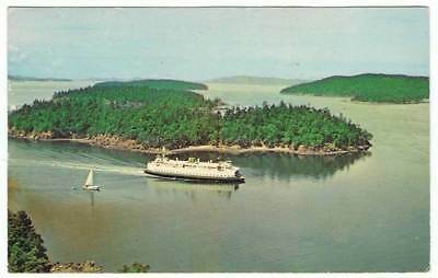 Postal del barco Washington State Ferry Evergreen in the famous San Juan Island