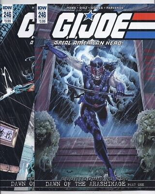(2017) Idw Comics G.i. Joe #246 Cover A And B First Printing Female Snake-Eyes!