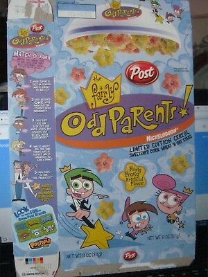 Post 2003 Fairly Odd Parents Old Vintage Cereal Box New