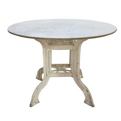 French Marble and Iron Cafe Table