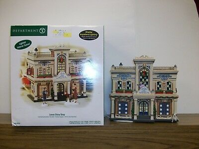 "Department 56 Christmas in the City ""Lenox China Shop"" **NIB**"