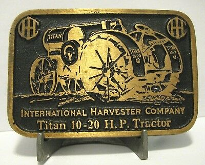 IHC International Harvester Co.Titan 10-20 HP Kerosene Tractor Brass Belt Buckle