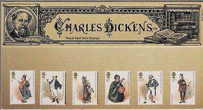 2012 Royal Mail Charles Dickens Presentation Pack No 473 Including Minisheet.