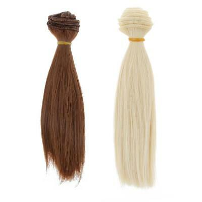 2pcs 15x100cm Straight Hair Wig for 1/3 1/4 1/6 BJD SD AS DZ LUTS DIY Making