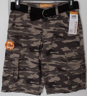 25db5fe765 LEE Dungarees Wyoming belted Cargo SHORTS - CARBON CAMO - BOYS 12 - NEW /  NWT