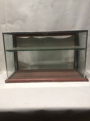 "Antique Vintage 30"" Small Candy Gum Showcase / Display Case"