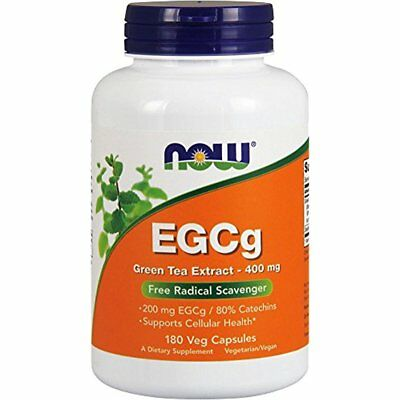 NOW EGCg Green Tea Extract 400 Mg 180 Veg Caps Supports Cellular Health