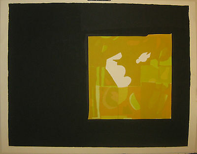 Vintage SYLVIA BIRCH HALPERIN ABSTRACT Lithograph - Listed Art Institute Chicago