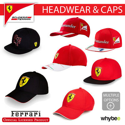 Ferrari F1 Formula One Team Caps (Adult One Size) All Styles Available!