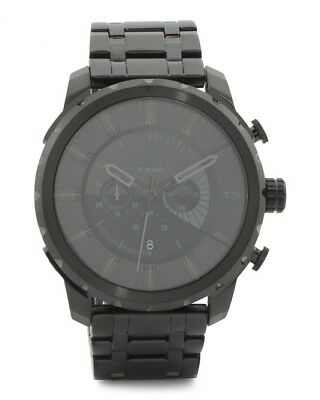 Diesel Stronghold Chronograph DZ 4349 Blackout Stainless Steel Men's Watch P$260