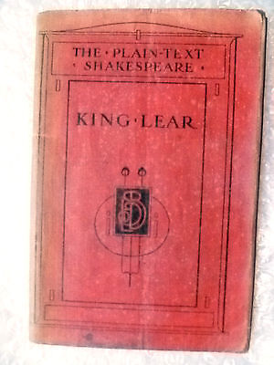 The Plain text of W Shakespeare's Plays KING LEAR (Genuine*)