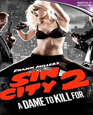 SIN CITY 2 A DAME TO KILL FOR - HD digital download ONLY (NO DVDS)