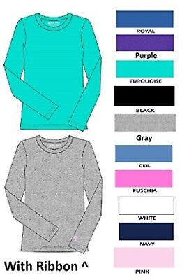 Workwear T-Shirt Slim Crew Neck Long Sleeve Solid Color Top Under Shirt NWT S-2X