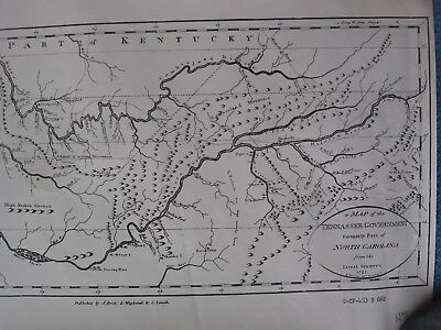 """""""Map of Tennassee Government Formerly Part of North Carolina From Surveys 1795"""""""