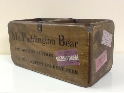 Paddington Bear Vintage Style Wooden Crate Ideal For Storing Marmalade