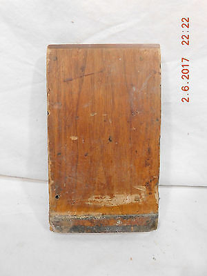 Antique Door/Window Trim Plinth Block - 1885 Butternut Architectural Salvage
