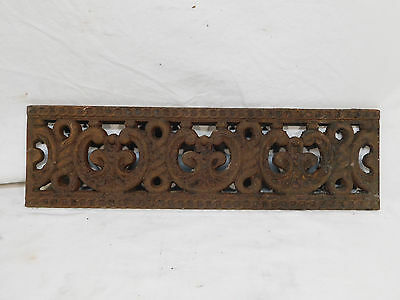 Antique Victorian Style Fireplace Grate Cover - C. 1880 Architectural Salvage