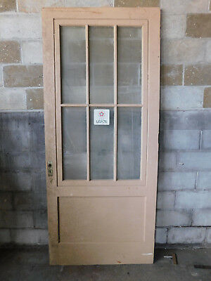 Antique Italianate Style Storm Door - C. 1860 Six Pane Fir Architectural Salvage