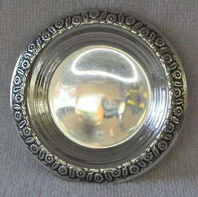 Springtime International sterling silver round dish bowl pin tray coaster