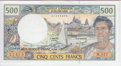 French Polynesia Banknote P1  500 Francs, Unc