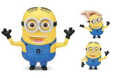"""Minion Dave INTERACTIVE Talking 8"""" Action Figure MINIONS Despicable Me Soft Skin"""