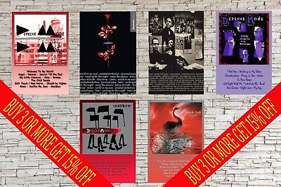 DEPECHE MODE A4  Album Posters   Spirit, Violator, 101, Speak & Spell + More