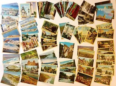 Lot of 78 Vintage California Post Cards Linen Pre Linen & Chrome 1854 to 1972