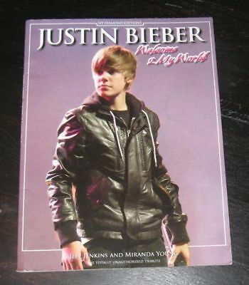 2011 Justin Bieber sc BOOK Welcome 2 My World program Tribute PHOTOS