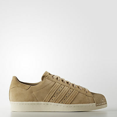 New adidas Originals Superstar 80s Shoes BB2227 Men's Beige Sneakers