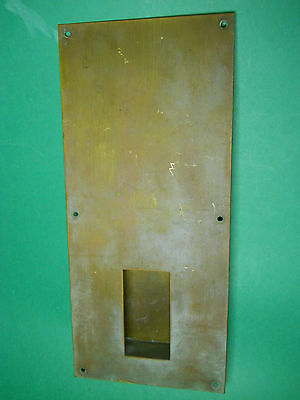 Vintage Solid Brass Sliding Door Handle Pull Push Plate Restoration Part Lot C
