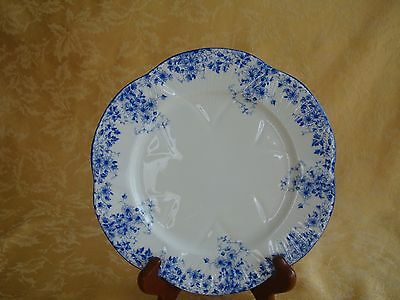 "Shelley Dainty Blue Daisy Pattern Fine Bone China 8"" Plate"