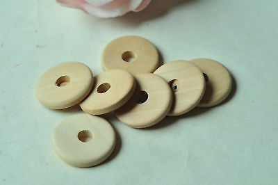 20pcs Round Wooden Bead Unfinished Natural Wood Center Hole Handmade Necklace